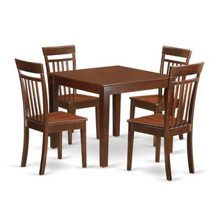 OXCA5-MAH 5-piece Kitchen Table Set with One Oxford Dining Room Table and Four Kitchen Chairs