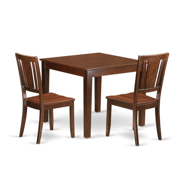 Small Wooden Kitchen Table And Chairs 3 Piece Set: Shop Oxford Mahogany Wood 3-Piece Dining Set