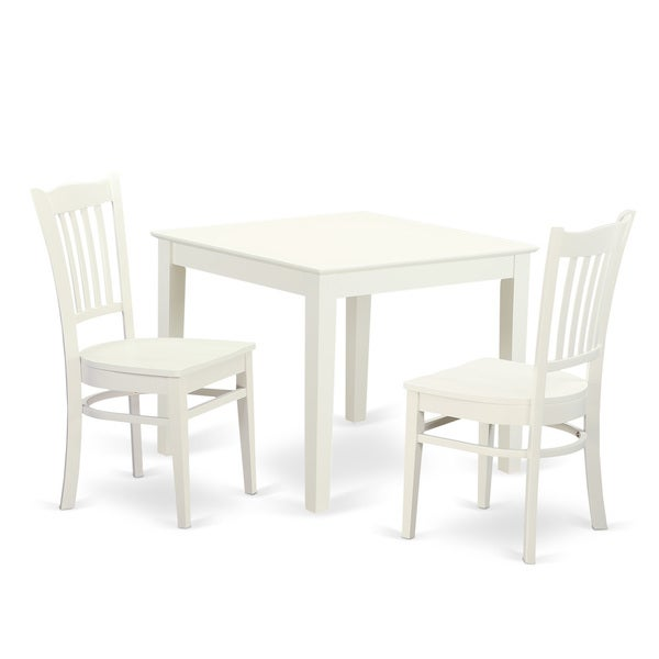 Shop Oxgr3 W 3 Piece Breakfast Nook Table And 2 Wood Dining Room
