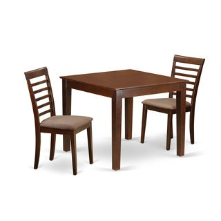 OXML3-MAH 3 Piece Dinette table set with one Oxford dining room table and two dining chairs in Mahogany Finish
