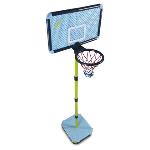 Swingball Basketball Set - Blue - 16.9in L x 19.5in W x 84in H