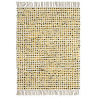 """Complex Yellow Hand Woven Rug - 21""""x34"""""""