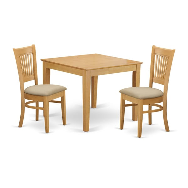 Dining Table Set For 2 Chairs 3 Piece Kitchen Room: Shop OXVA3-OAK 3-Piece Dining Room Table Set