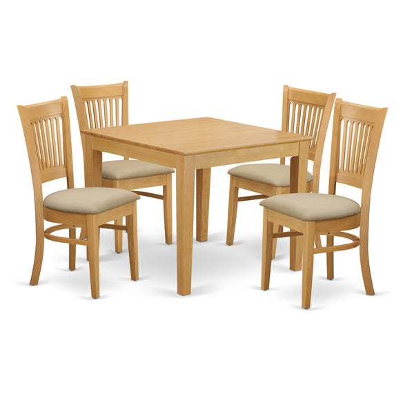 Oak Kitchen Table Chairs: Shop 5-piece Oak Square Kitchen Table And Chairs Set