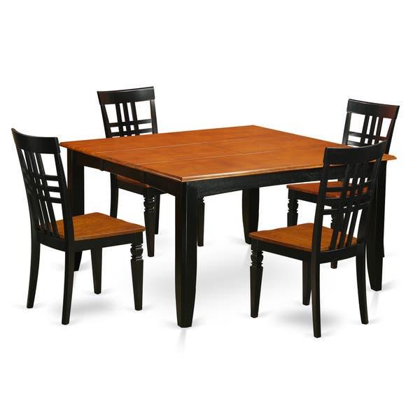 Parfait Black And Cherry Finish Wood Extendable Square