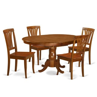 5-piece Dining Room Set for 4 in Cherry Finish