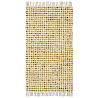 Complex Yellow Hand Woven Rug (2'x5') - 2' x 5'