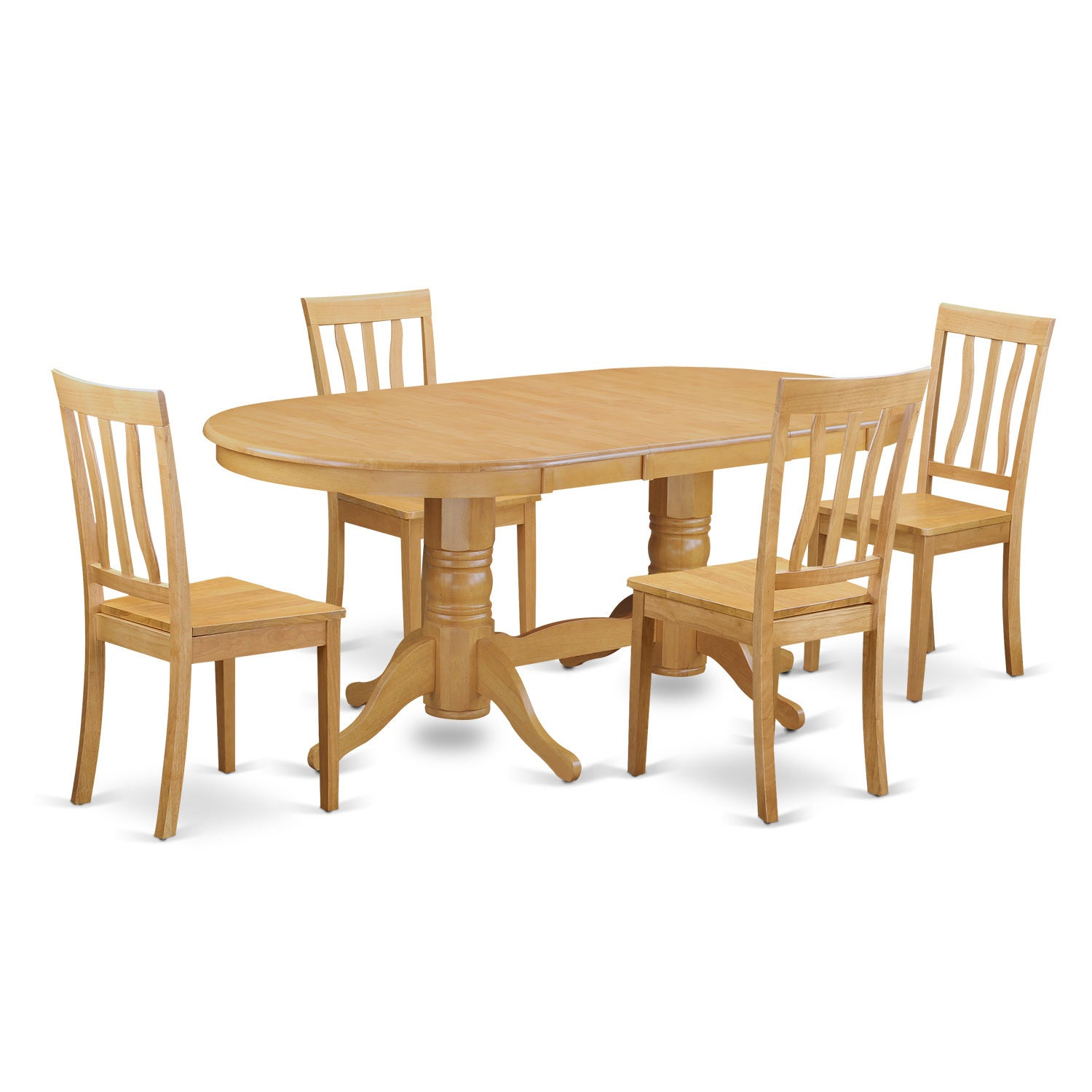 VAAN5-OAK 5 Piece Dinette table set - kitchen table and 4...