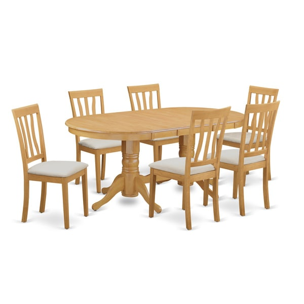 Oak Kitchen Table Set: Shop Oak Wood 7-piece Kitchen Table Set