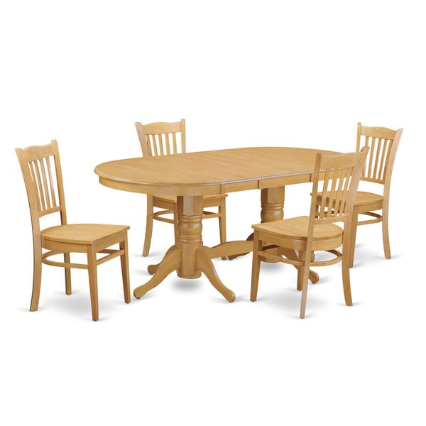 Small Kitchen Table And 4: VAGR-OAK-W Small Kitchen Table Set