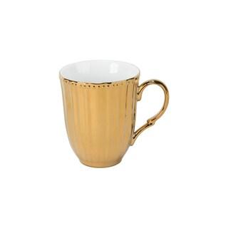 Gold Porcelain Scalloped Mug (Pack of 6)