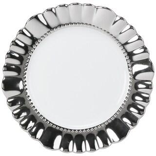 Scalloped Dinner Plate - Silver - Set of 6