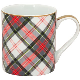Red, Green and White Plaid Mug (Pack of 6)