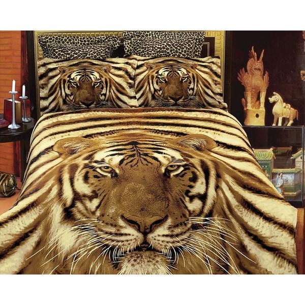 Dolce Mela Safari-themed Luxury 6-piece Duvet Cover Set