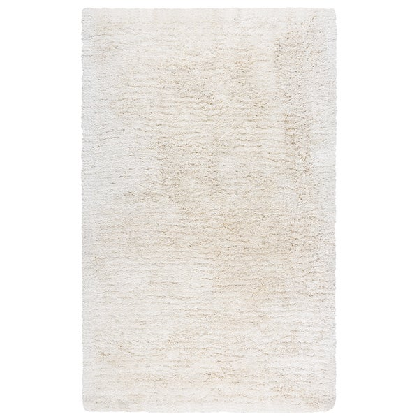 Hand-Tufted Commons Ivory Solid Polyester Area Rug (8' x 10')