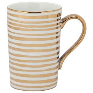 10 Strawberry Street Madi Mug Stripes Gold-tone Porcelain (Pack of 6)