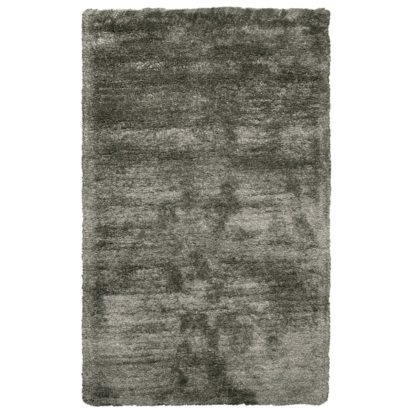 Hand-Tufted Commons Oatmeal Solid Polyester Area Rug (8' x 10')