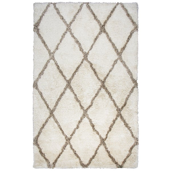 Hand-tufted Commons Ivory Solid Polyester Area Rug - 8' x 10'