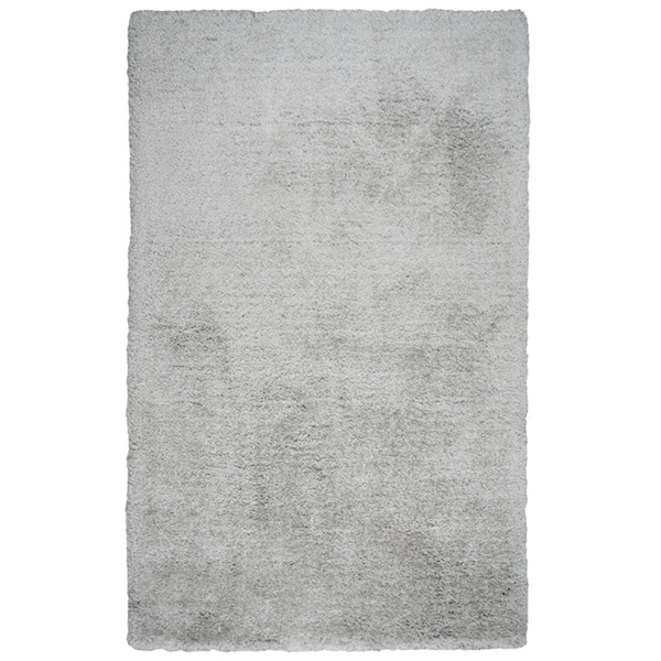 Hand-tufted Commons Silver Solid Polyester Area Rug (8' x 10')