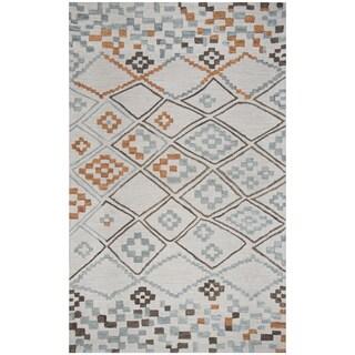 Hand-tufted Lancaster Grey Geometric/ Moroccan Wool Area Rug  (8' x 10')