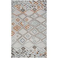 Hand-tufted Lancaster Grey Geometric/ Moroccan Wool Area Rug  (8' x 10')