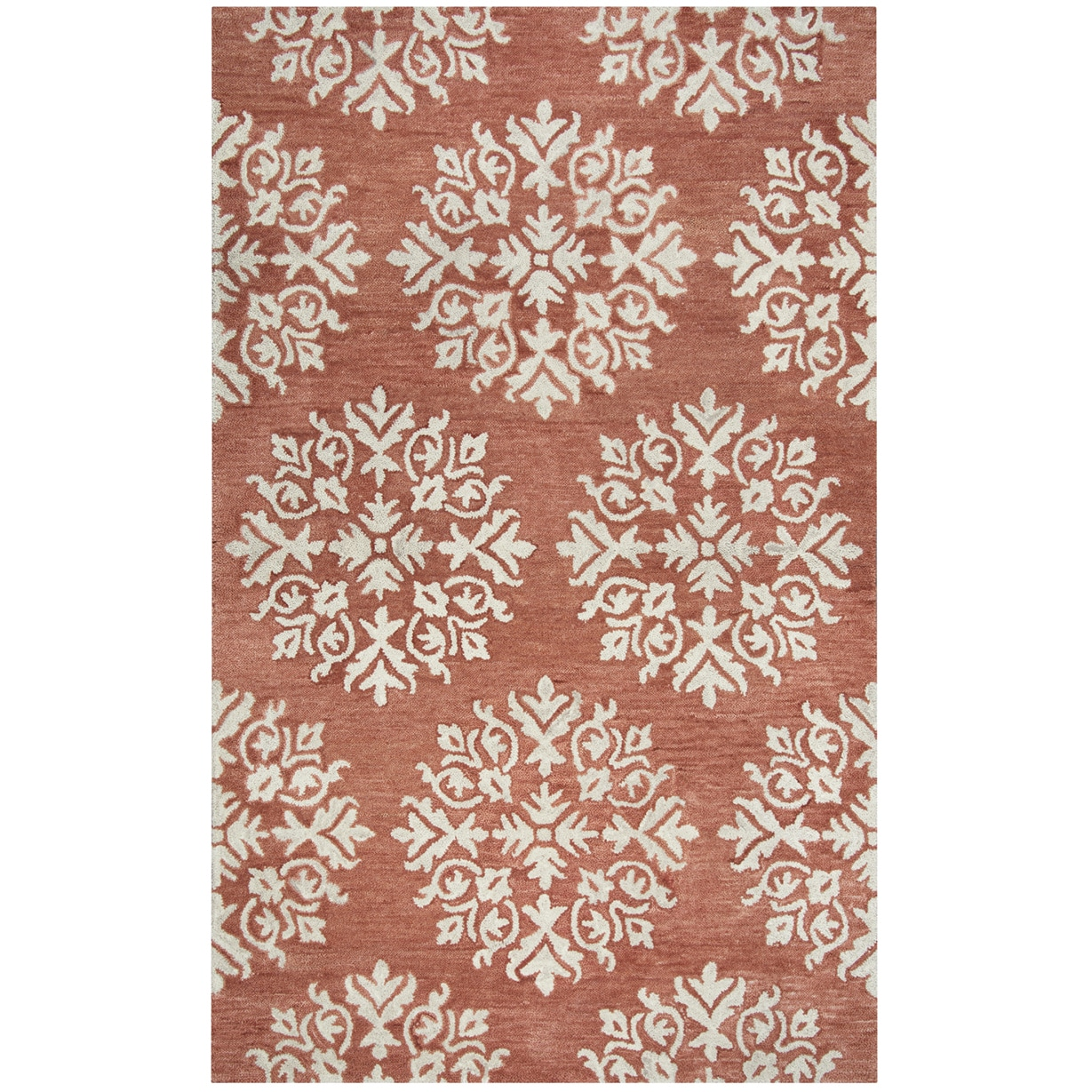 Shop Hand Tufted Napoli Coral Medallion Wool Area Rug 8 X 10