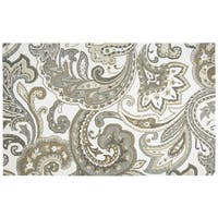 Hand-tufted Suffolk Beige Paisley   Wool Area Rug  (8' x 10') - 8' x 10'