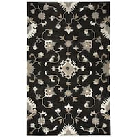Hand-tufted Suffolk Brown Oriental/ Floral  Wool Area Rug  (9' x 12') - 9' x 12'