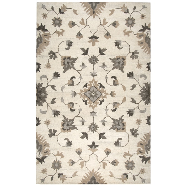 12 10 X 14 11 Persian Karajeh Hand Knotted Wool: Shop Hand-tufted Suffolk Beige Oriental/ Floral Wool Area