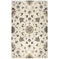 Hand-tufted Suffolk Beige Oriental/ Floral  Wool Area Rug  (8' x 10')