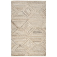 Hand-Tufted Suffolk Tan Geometric/Solid 100-percent WOOL Area Rug  (8' x 10')