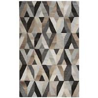 Hand-tufted Suffolk Geometric  Wool Area Rug  (9' x 12')