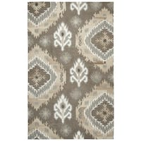 Hand-tufted Suffolk Brown Medallion Ikat   Wool Area Rug  (8' x 10')