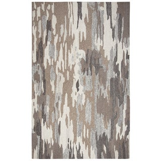 Hand-tufted Suffolk Brown Abstract  Wool Area Rug  (9' x 12')