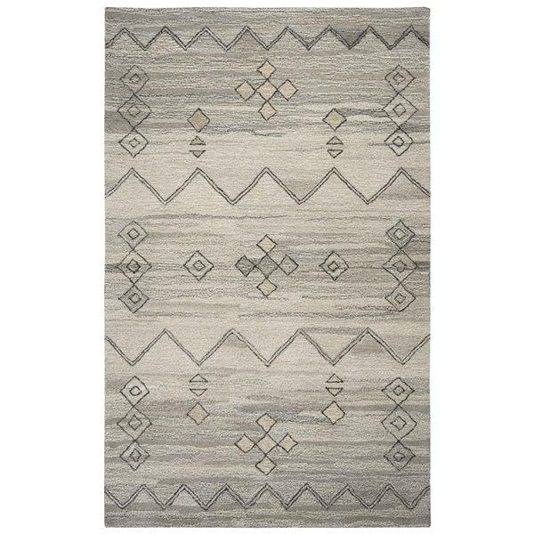 Hand-tufted Suffolk Grey Moroccan Wool Area Rug (9' x 12')