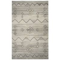 Hand-tufted Suffolk Grey Moroccan  Wool Area Rug  (9' x 12')