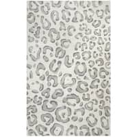 Hand-Tufted Valintino Gray Animal/Cheetah Wool Area Rug  (8' x 10')