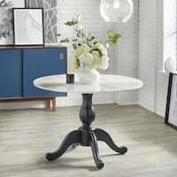 angelo:HOME Enna Pedestal Table - Black - N/A