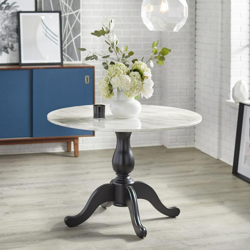 Angelo Home Enna Pedestal Table Overstock 14366758