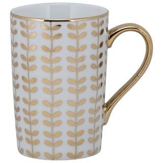 Madi Goldtone Porcelain Stem Mug (Pack of 6)
