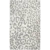 Hand-tufted Valintino Grey Animal/ Cheetah Wool Area Rug - 9' x 12'