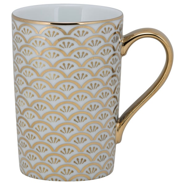 10 Strawberry Street Ocean Madi Gold Porcelain Mug (Pack of 6)