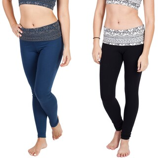 Women's Tribal Print Long Yoga Pants (Nepal)