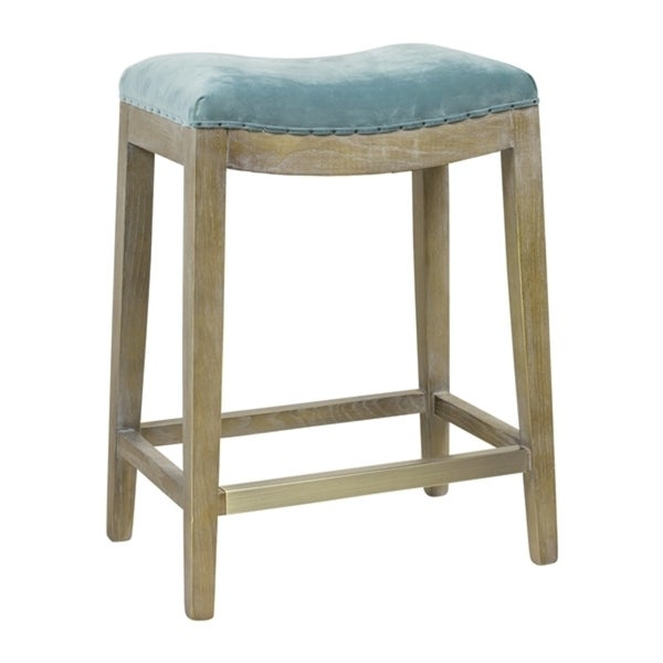 Shop Hillsdale French Nailhead Velvet Counter Stool Free