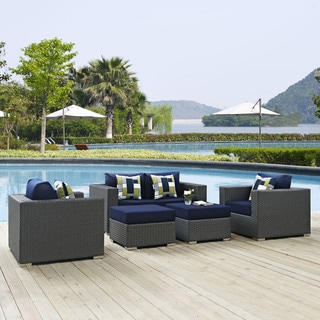 Sojourn 5 Piece Outdoor Patio Sunbrella Sectional Set