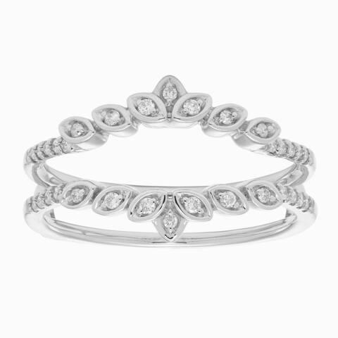 14k Gold 1/5 Diamond Ring Enhancer