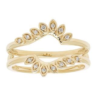 14k Gold 1/10ct TDW Diamond Ring Enhancer (H-I, I1-I2)