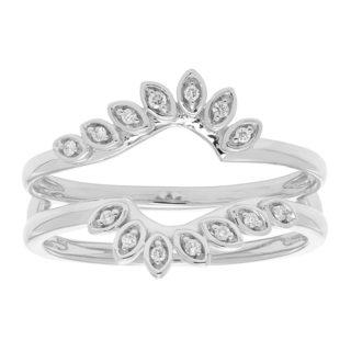 14k Gold 1/10ct TDW Diamond Ring Enhancer
