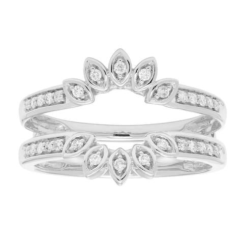 14k Gold 1/5ct TDW Sunburst Diamond Ring Enhancer