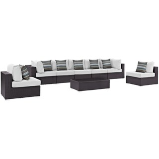 Convene 8 Piece Outdoor Patio Sectional Set (More options available)